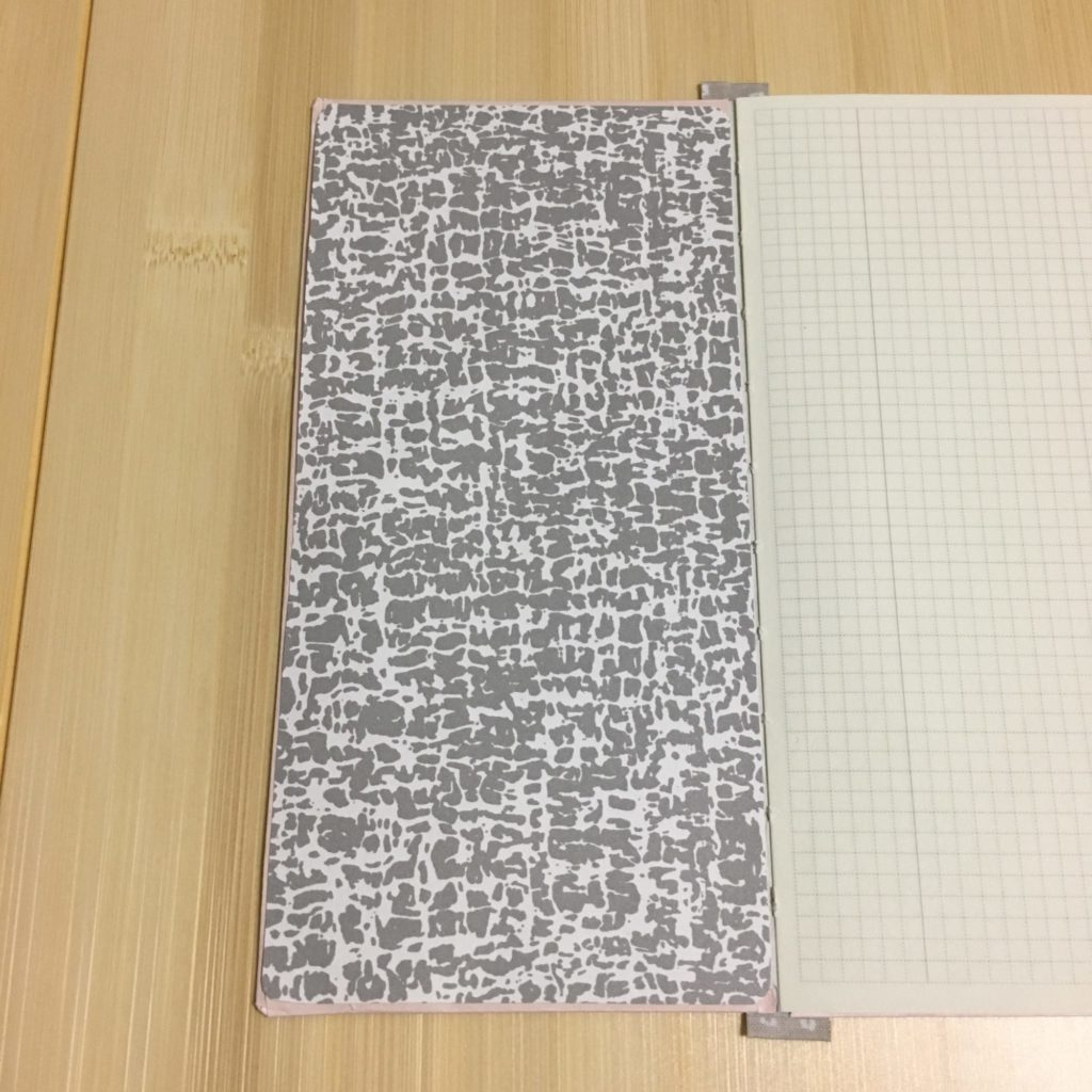 メモ帳の表紙の裏